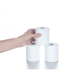 "3 1/8"" x 230' White Thermal Paper Rolls"
