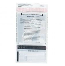 9W x 17-1/2H Universal Transaction Bags - White