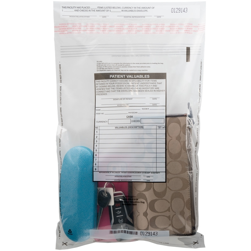 category Patient Valuables Bags