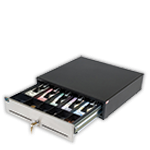 category 2000 Series Universal Electronic Cash Drawer - 17.9W x 4.5H x 17.75D