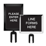 category Signs & Frames for Retractable Belt Posts